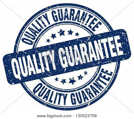 quality guarantee blue grunge round vintage rubber stamp