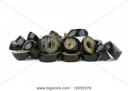 Small Pile Of Sliced Black Olives