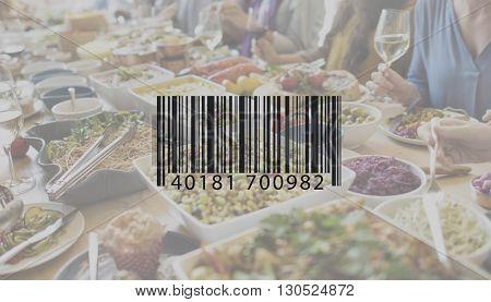 Bar Code Data Identification Encryption Concept