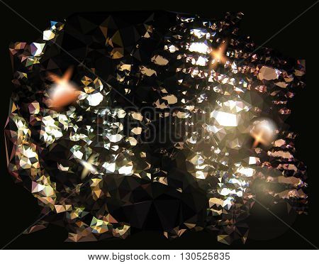Abstract background resembling black lace with light reflections