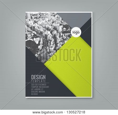 minimal simple green color design template background for business annual report book cover brochure flyer poster