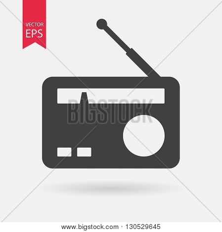 Radio Icon. Radio Icon Vector. Isolated on white