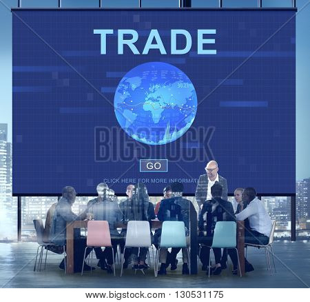 Trade Stock Swap Investment Trading Concept