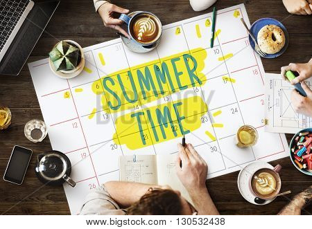 Summer Time Deal Promotion Shopping Concept