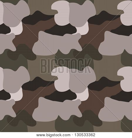 seamless camouflage pattern vector illustration. Background texture khaki ckhaki clothes. Spot colorful.