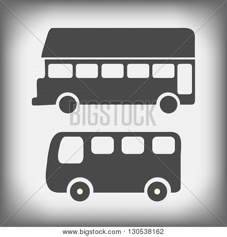 buses icons vector isolated on white background. Buses izolirovannye on a white background. A bus design project