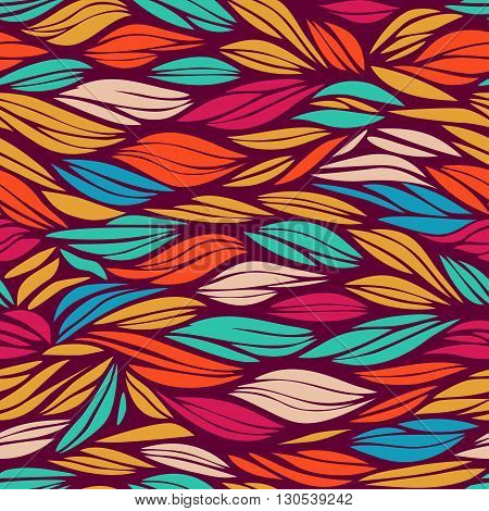 abstract bright and colorful pattern with waves, vector seamless wavy pattern