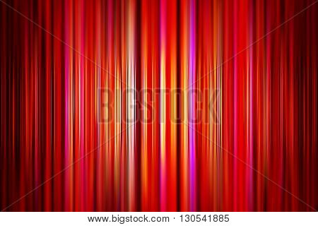 Abstract yellow and red stripes background with selective focus and spotlight