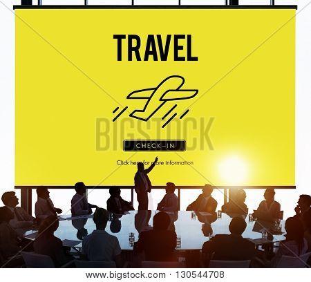 Transport Travel Departure Take off Concept