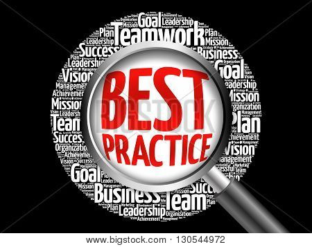 Best Practice Word Cloud With Magnifying Glass