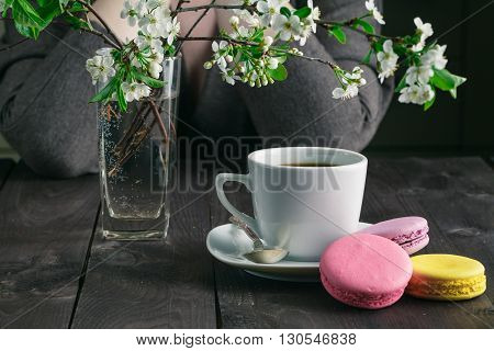 Woman Drink Coffee And Thinking About Life