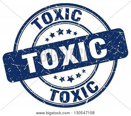 toxic blue grunge round vintage rubber stamp