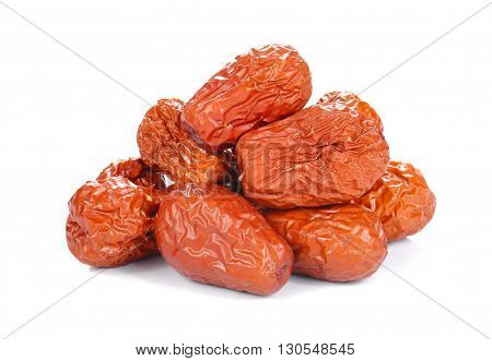 Chinese jujube isolated on a white background.