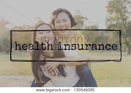 Health Insurance Assurance Life Protection Medical Concept