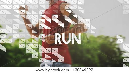 Run Activity Exercise Healthy Fitness Sprint Concept