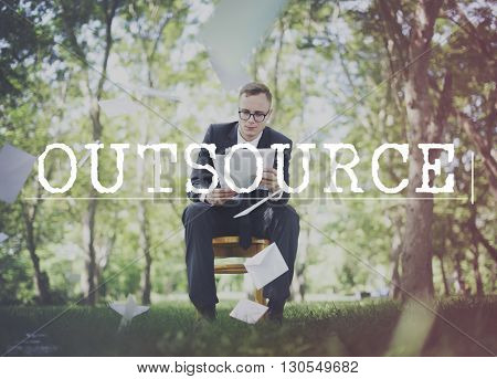 Outsource Contract Business Function Skills Concept