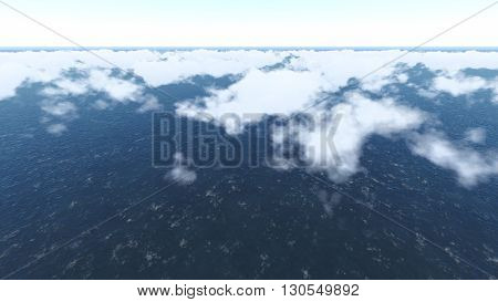 Sky and Clouds ilustration 3D rendering  9
