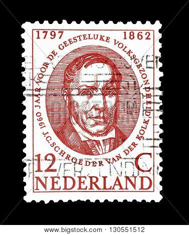 NETHERLANDS - CIRCA 1960 : Cancelled postage stamp printed by Netherlands, that shows Schroeder van der Kolk.