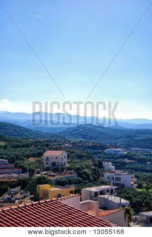 Platanias Elevated View