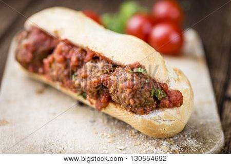 Sandwich With Meatballs