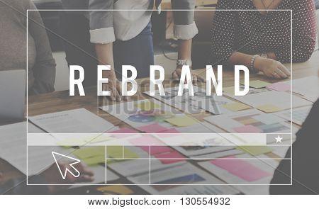 Rebrand Branding Business Analytics Marketing Concept