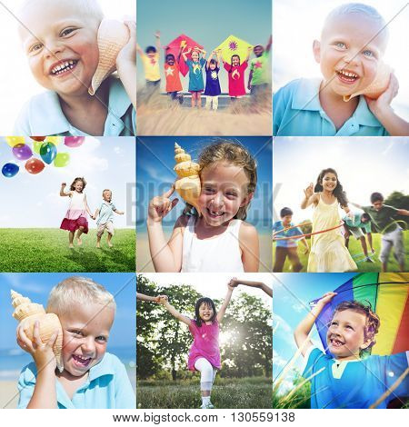 Child Friend Young Adult Kids Leisure Growth Concept