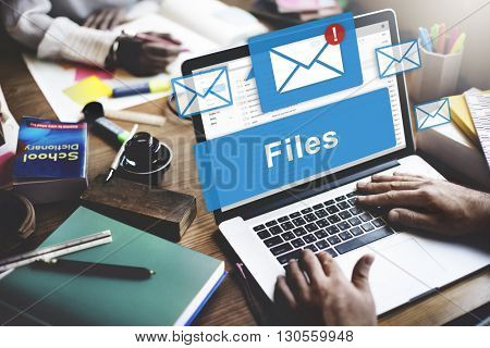 Files Attachment Email Online Graphics Concept