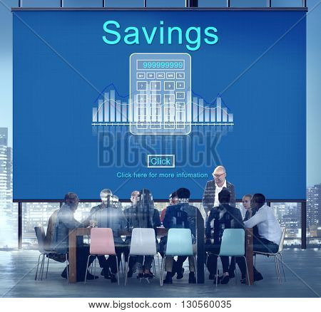 Profit Savings View Earnings View Total Amount Concept