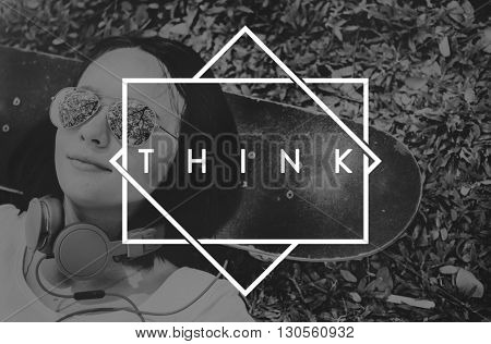 Think Big Smart Positive Dream Concept