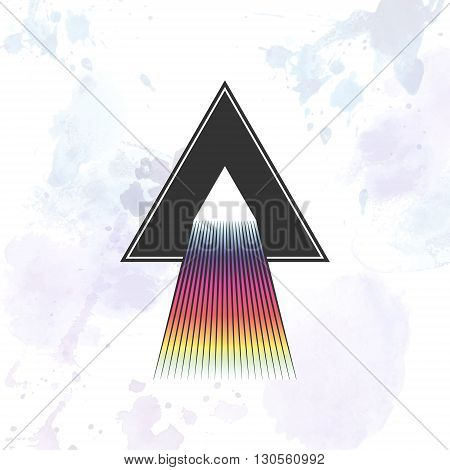 Dispersion abstract triangle illustration. Vector isolated EPS10.