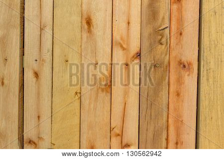 Surface of wall covered a rough wooden plank