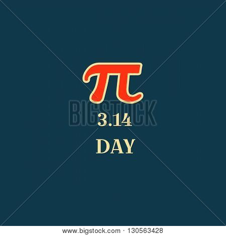 Pi Day Typography Poster Design, Vector Illustration. Science.