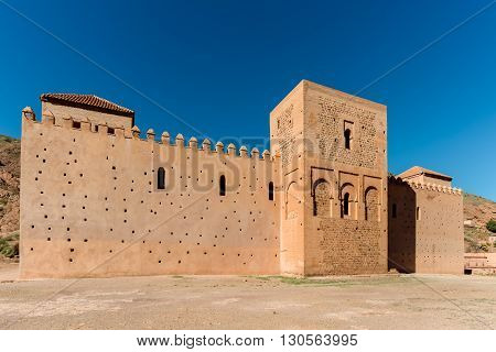 Tinmal Mosque built in 1153 on north side of the Tizi-N-Test Pass Road Tin Mal Morocco.
