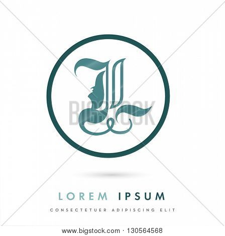 MODERN CORPORATE VECTOR LOGO / ICON DESIGN OF AN 'L' INITIAL  . COLORS USED : TURQUOISE