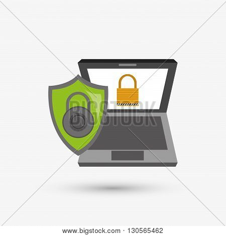Security system concept with icon design, vector illustration 10 eps graphic.