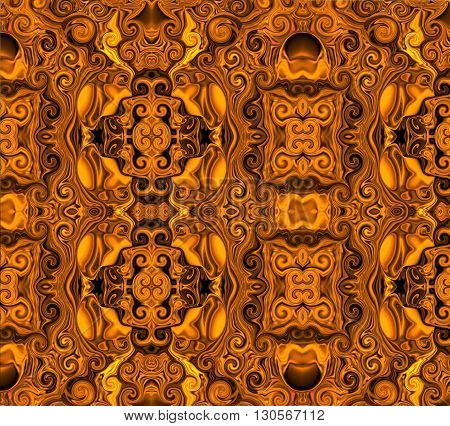 Oriental patterns - the sun of the soul The picture shows the oriental patterns mainly yellow colors.