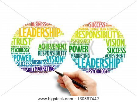 GO word cloud business concept, presentation background