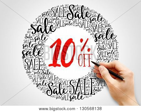 10% Off Sale Words Cloud
