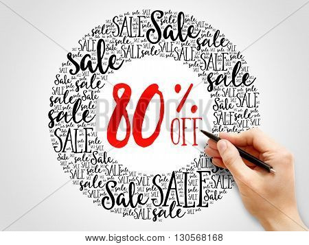 80% Off Sale Words Cloud