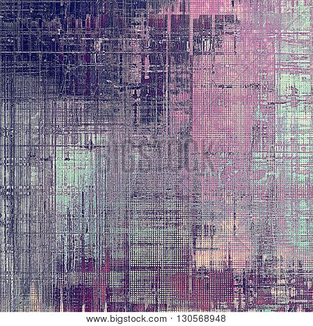 Grunge antique frame, vintage style background. With different color patterns: gray; purple (violet); pink; cyan