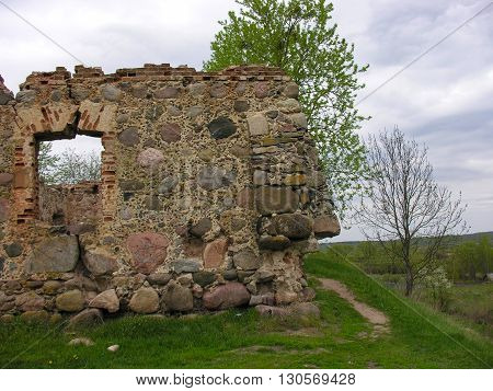Site of ancient castle -  the largest archaeological site Osipovichi district - castle site in the village of Svisloch (Belarus)