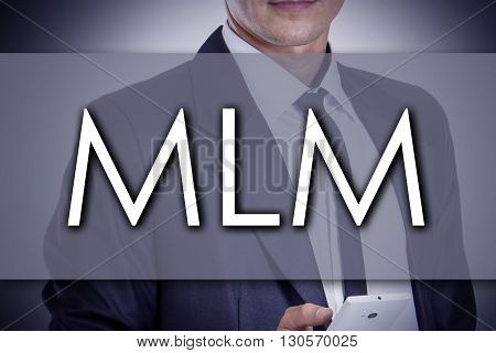 Mlm - Young Businessman With Text - Business Concept