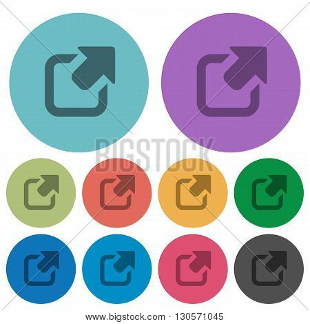 Color export flat icon set on round background.