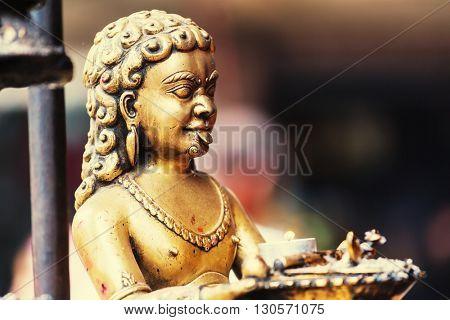 Statue in Kathmandu, Nepal