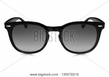 black sun glasses isolated on white background