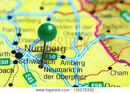 Neumarkt in der Oberpfalz pinned on a map of Germany