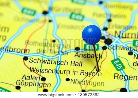 Weissenburg in Bayern pinned on a map of Germany