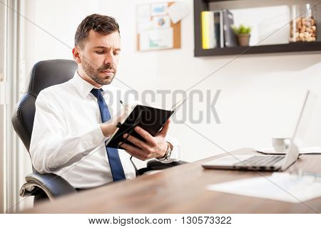 Businessman Taking Some Notes