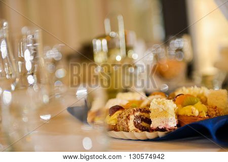 Cookies on a wedding table in natural light