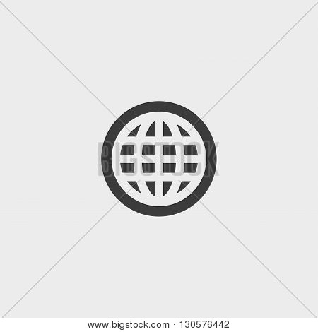 Planet icon in a flat design in black color. Vector illustration eps10